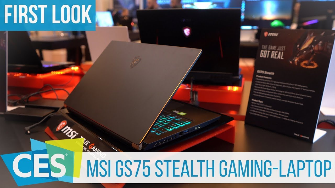 Msi Gs75 Stealth First Look Thin Gaming Laptop With Rtx 2080 Ces2019 Youtube
