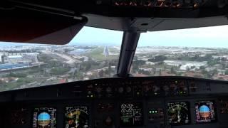 Airbus A321 - Aterragem em Lisboa