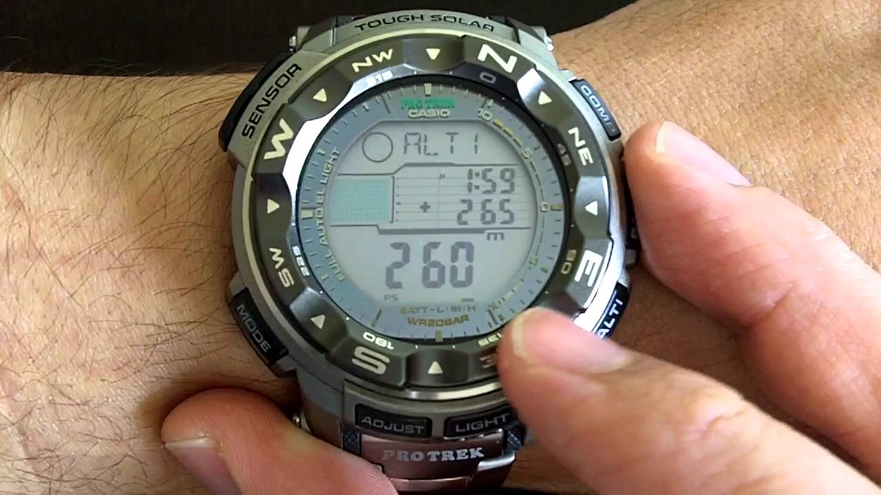 ac8a730950b Casio Protrek Triple Sensor Tough Solar PRG250T   PRW2500T - YouTube