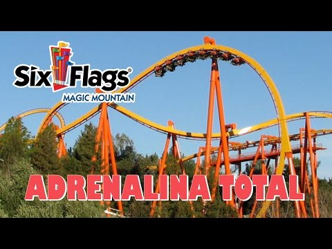 Muita adrenalina no parque Six Flags Magic Mountain (California)
