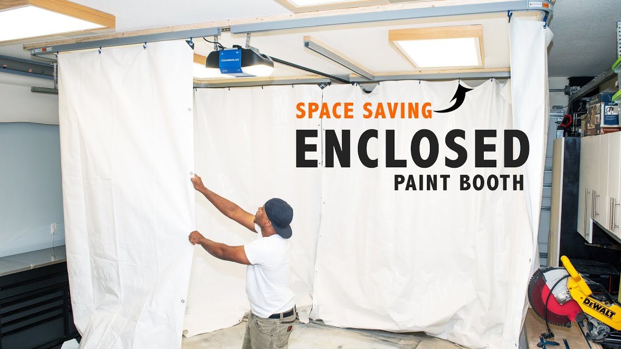 How to Make a PAINT BOOTH (Easy Set up)