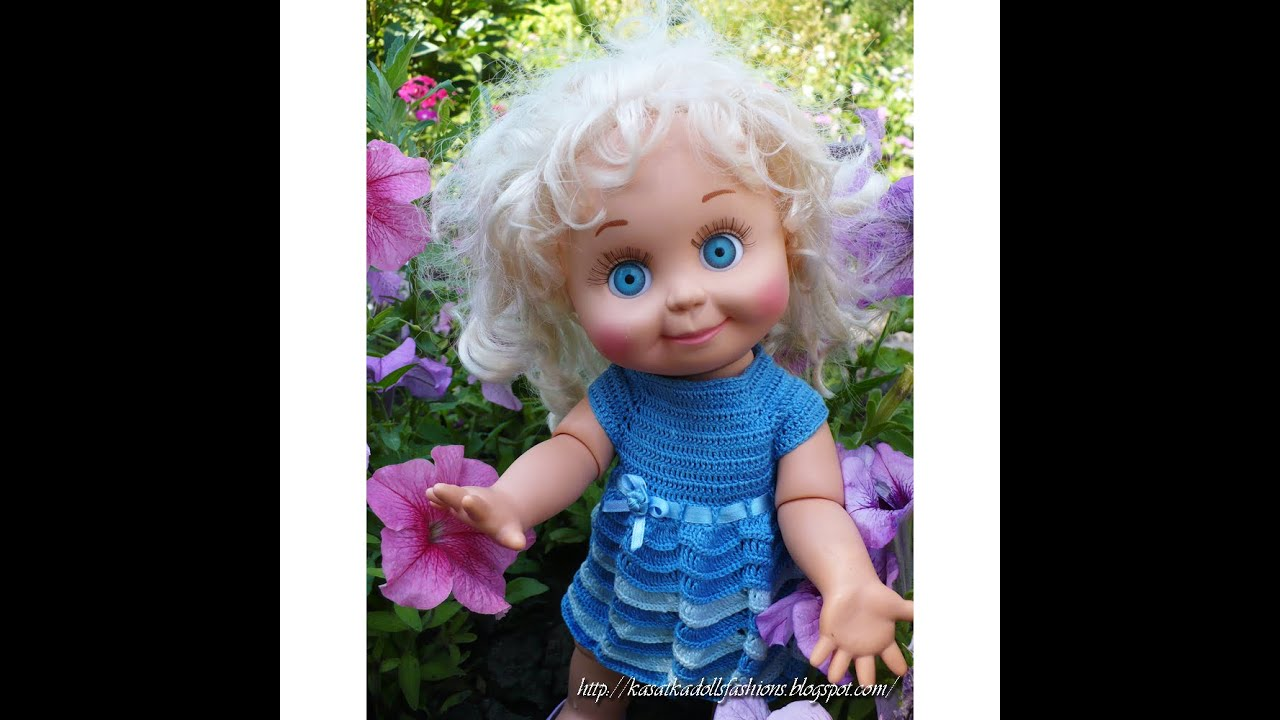 плаття вязание для кукл