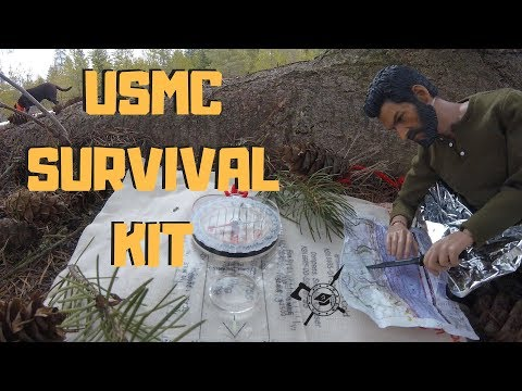 USMC Issue survival kit Type 1 class 3 |  Issued to Marine Recon and Sniper units of the GCE