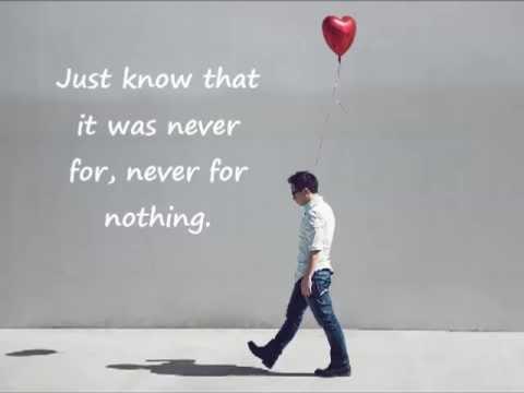 Jason Chen - Never For Nothing Lyrics on Screen
