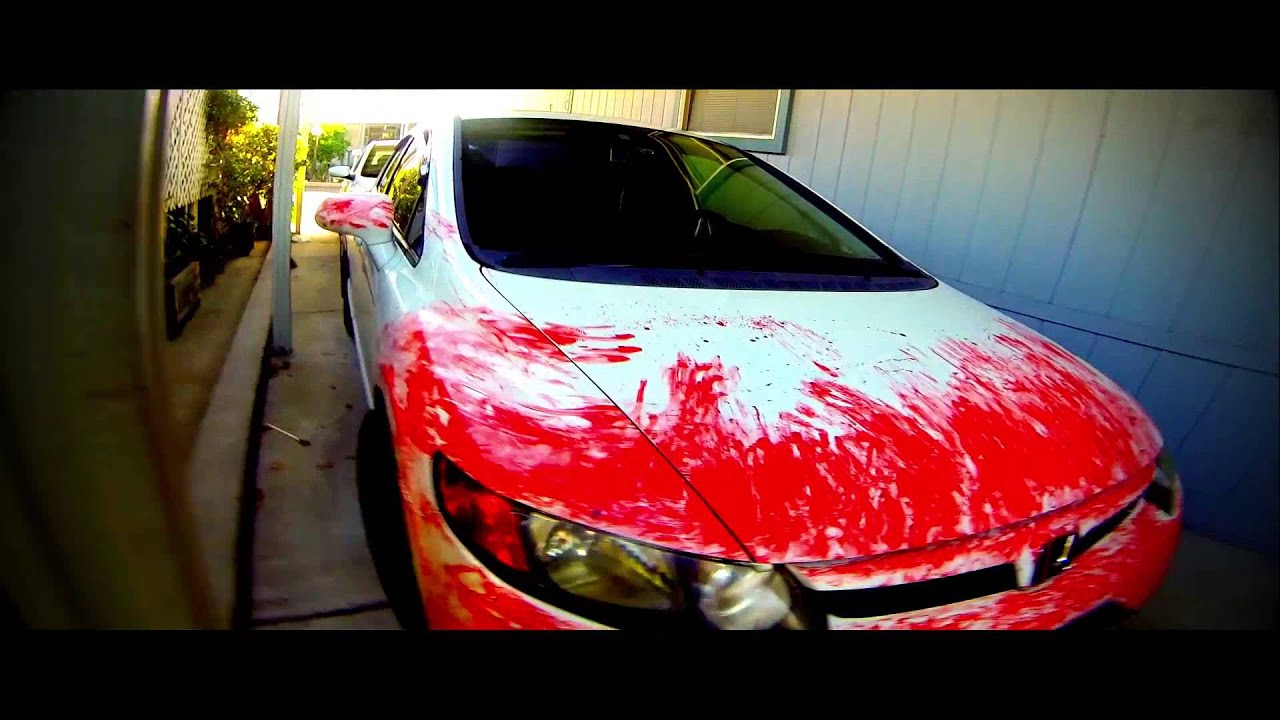 Red Plasti Dip Bloody Halloween Car Idea 08 Honda Civic Si