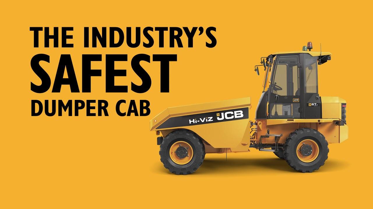 JCB Site Dumper SiTESAFE Cab Impact Testing - The Industry's Safest