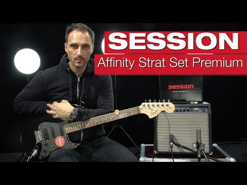 Squier By Fender Affinity Series Stratocaster HSS IL MBK - SESSION SET PREMIUM