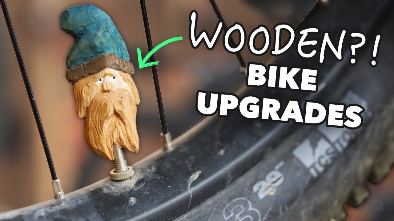 HOMEMADE BIKE PARTS... out of a Tree Branch!