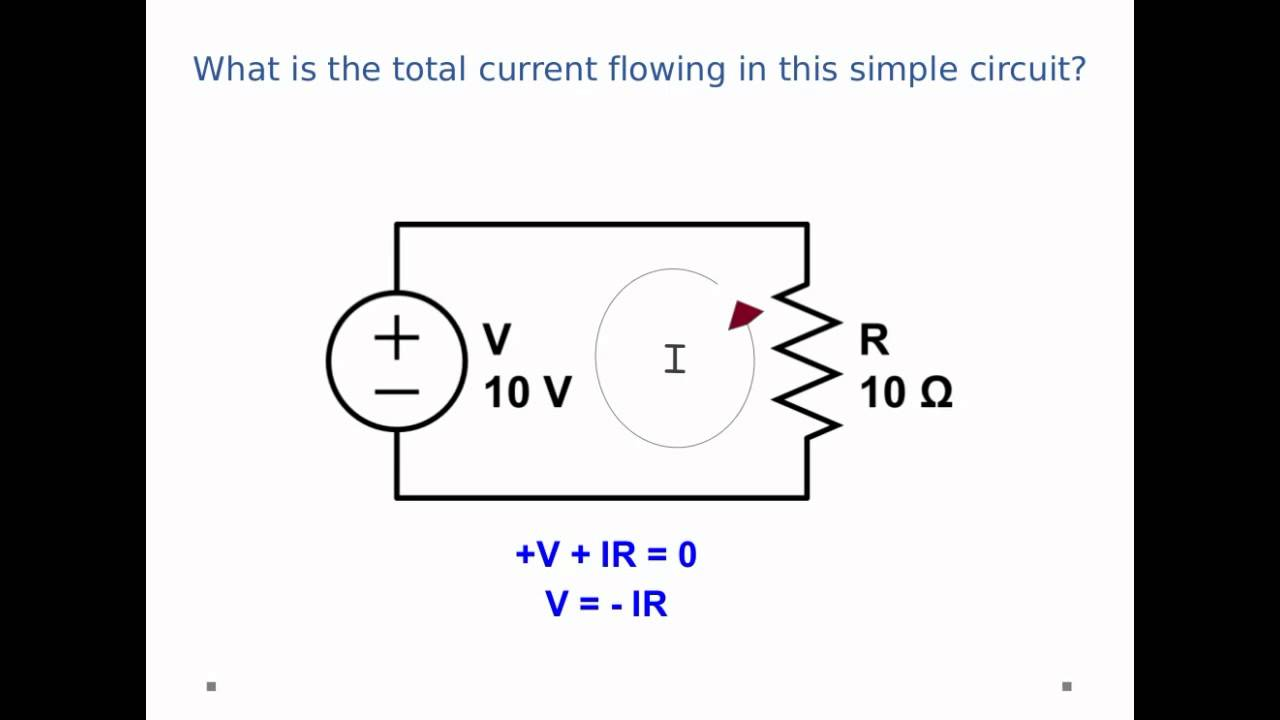 dc circuits - guessing the direction of current flow in kirchhoff's laws -  youtube