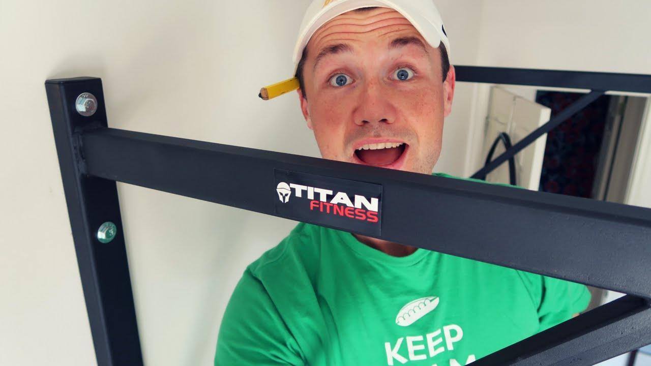 b511f815e4c4b9 Titan Fitness Pull up bar INSTALL - YouTube
