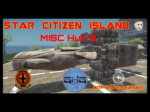 Star Citizen Island - MISC Hull B size comparison