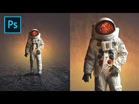 Photoshop CC Tutorial - Astronaut Lost Photo Manipulation thumbnail