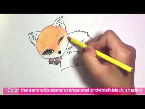 How to draw a kawaii fox 🦊 ??