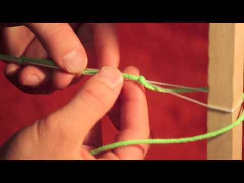 Weaving a Mayan Hammock