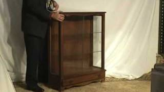 Maple Curio Cabinet , China Cabinet With Glass Shelves