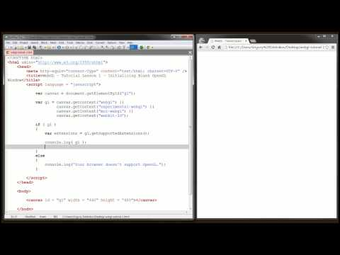WebGL Tutorial 1 - How To Initialize WebGL in 11 Minutes