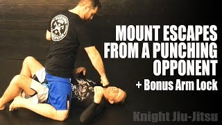 Mount Escapes from A Punching Opponent | Jiu-Jitsu Escapes