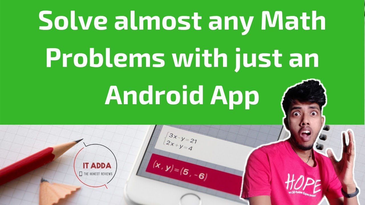 Android app to solve math problems
