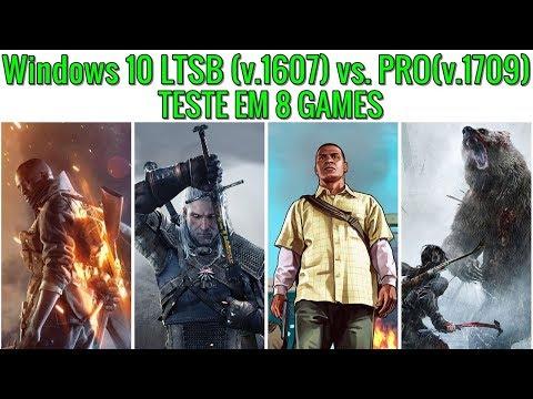 Windows 10 LTSB (Gamer) vs. PRO | TESTE EM 8 GAMES | 1080p