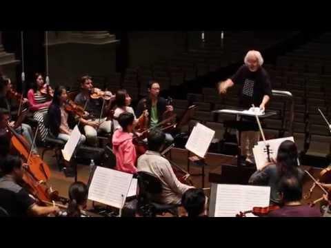 Masaaki & Masato Suzuki in rehearsal with the SSO (Singapore Symphony Orchestra)