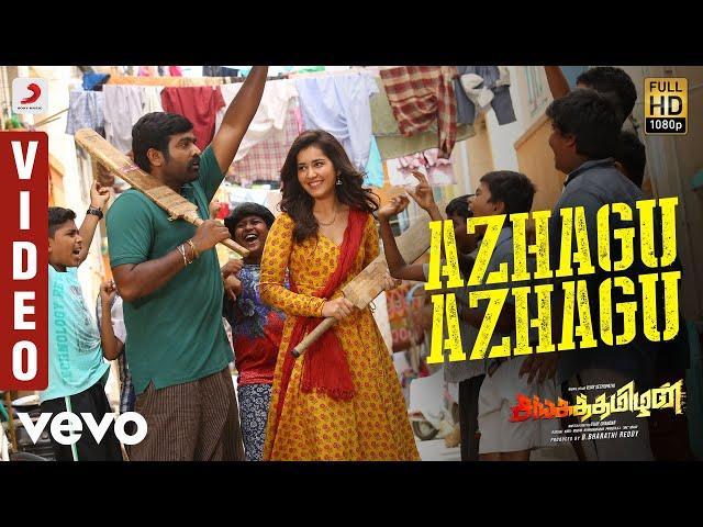 Sangathamizhan - Azhagu Azhagu Video   Vijay Sethupathi, RaashiKhanna   Vivek-Mervin