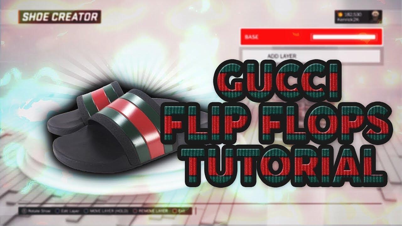 923297ae61b033 NBA 2k18 Gucci Slides