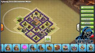 Clash of Clans Kb7 Anti Ejder Klan savaşı Base VaktiGeym