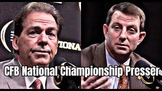 Nick Saban and Dabo Swinney press conference before CFB National Championship