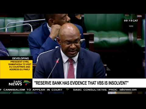 """Reserve Bank has evidence that VBS is insolvent"""