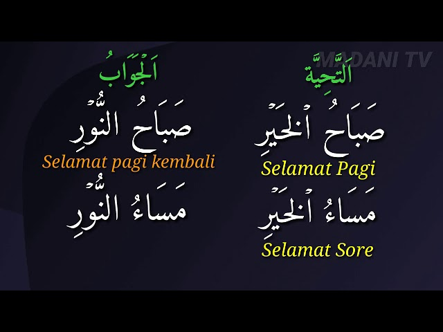 Bahasa Arab Sapaan Ucapan Selamat Youtube