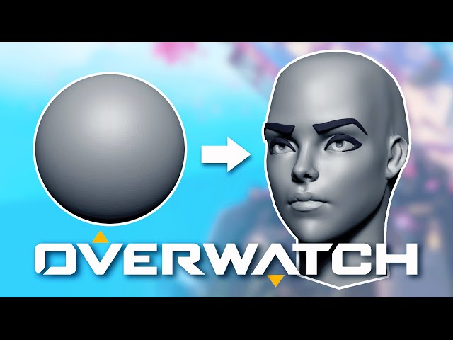 Sculpting an Overwatch Style Female Face