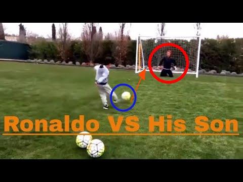 Cristiano Ronaldo VS His son Football penalty Goal [HD]