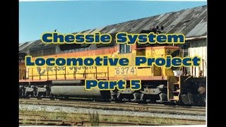 How to Paint Chessie Locomotives: Part 5