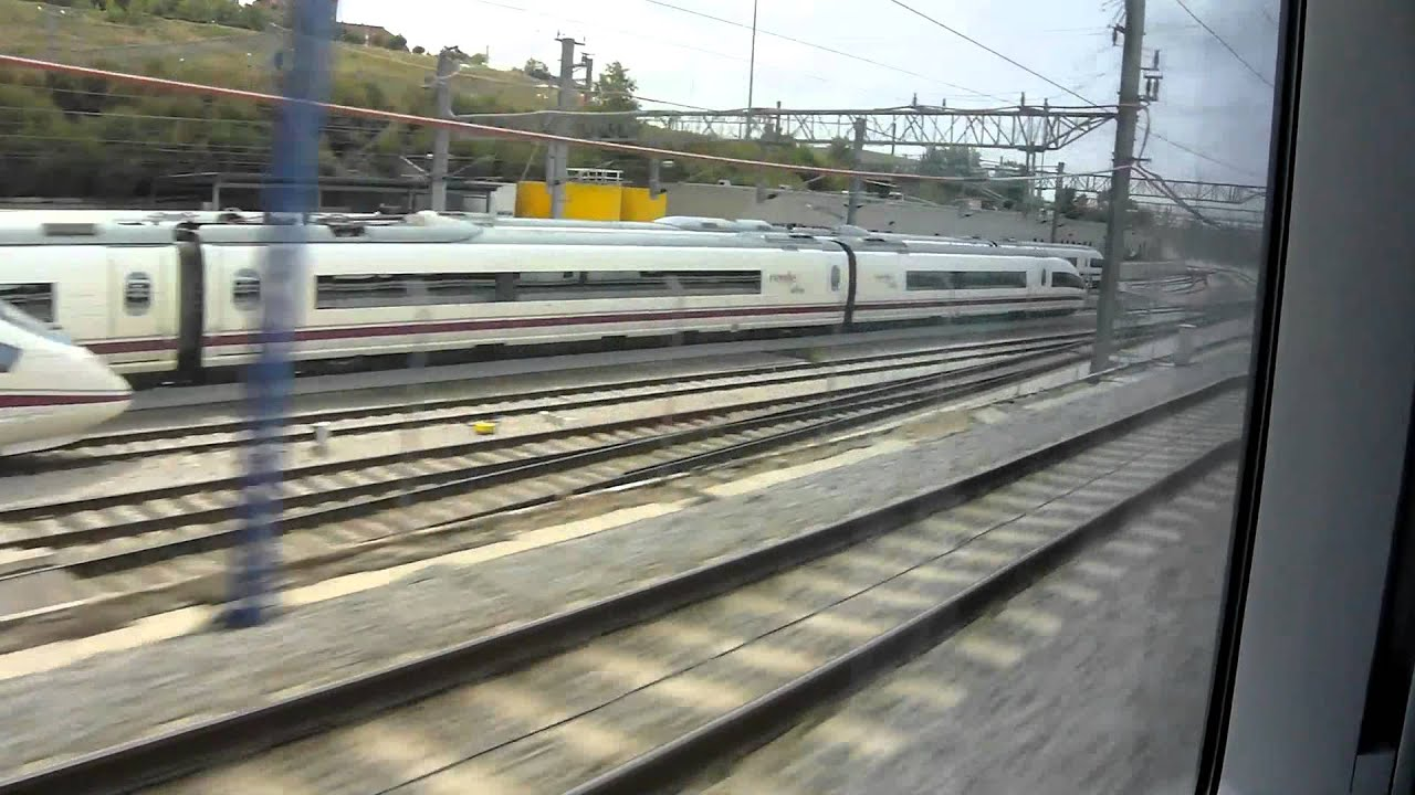 renfe ave madrid zaragoza barcelona youtube