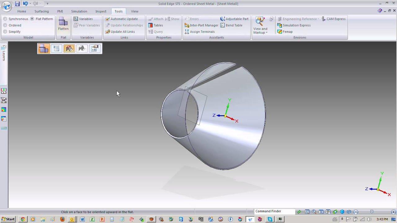Construccion De Un Cono En Sheet Metal Para Solid Edge