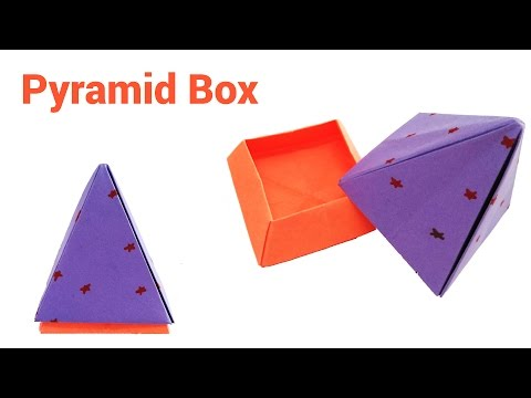 How to make a paper pyramid box with lid | Origami Pyramid gift box