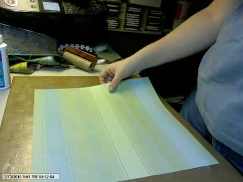 Tutorial:  Book Binding Paper (Fabric on Paper)