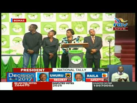 IEBC holds press briefing following delay in transmission of results