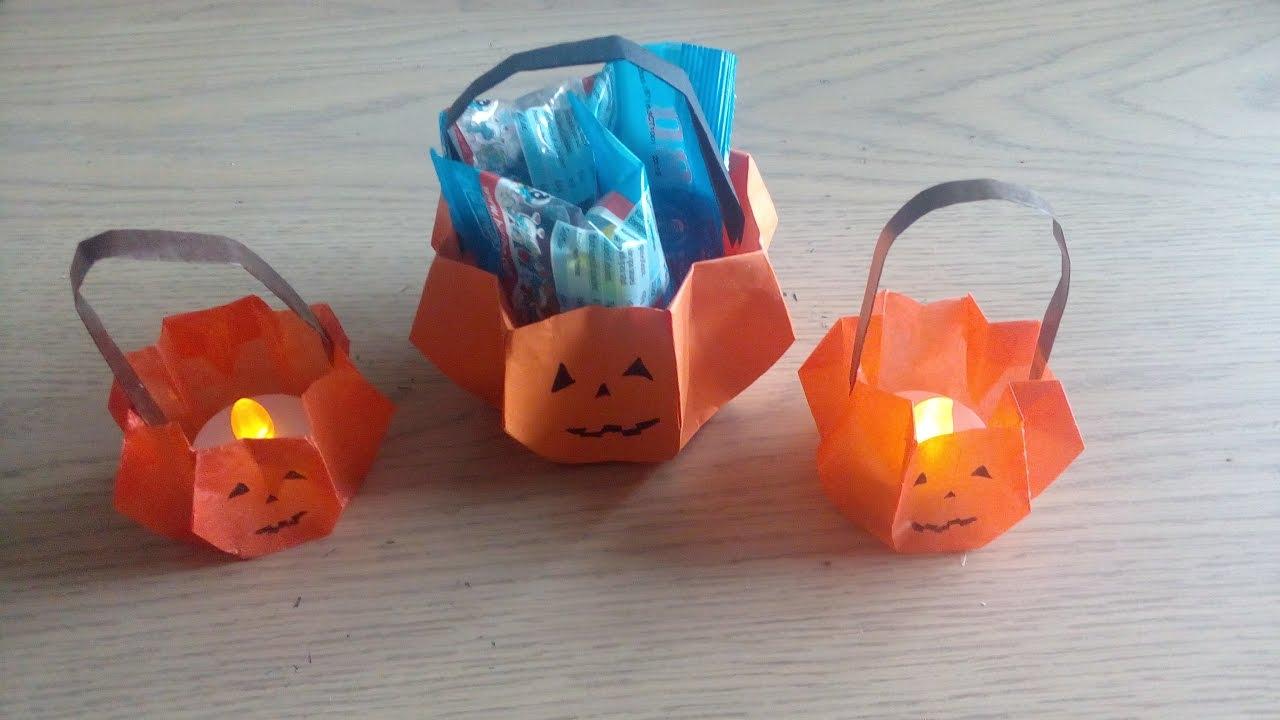 Origami Le Panier Citrouille Dhalloween Pumpkin Basket Par