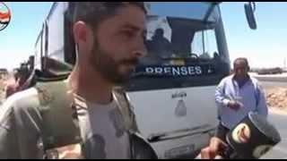 الدفاع الوطني و تأمين المواطنين بعد أن قطع ارهابي داعش الطريق