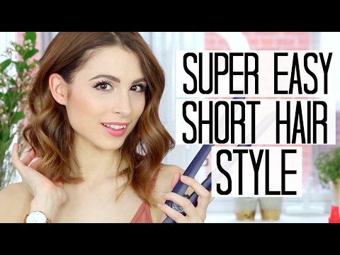 EASY SHORT HAIR CURLS WITH FLAT IRON