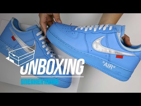 Off White Air Force 1 MCA Blue Unboxing