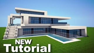 Minecraft: How to Build a Realistic Modern House -  Mansion Tutorial