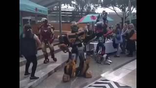 Bumblebee dancing to Nae Nae at Deakin University