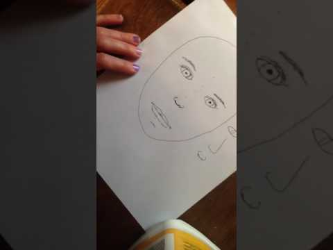 Drawing a cubist face