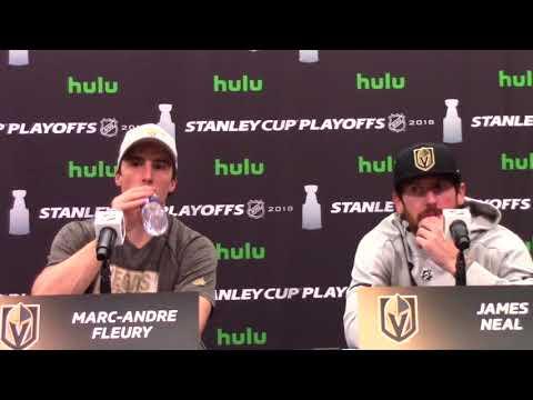 Golden Knights Marc-Andre Fleury, James Neal Post-Game Presser 5/16