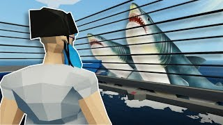 SHARK CAGE SURVIVAL! - Stormworks Multiplayer Gameplay - Shark Survival