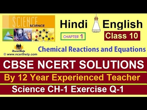 class 10 science chapter 1 exercise solutions