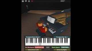 •Senbonzakura - Vocaloid/Hastune Miku de: Kurousa P en un piano ROBLOX. [Medio/Dura]