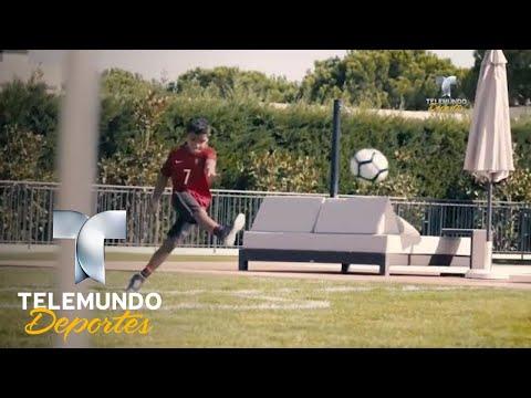 El hijo de CR7 da muestras de su talento con un golazo | Más Fútbol | Telemundo Deportes thumbnail